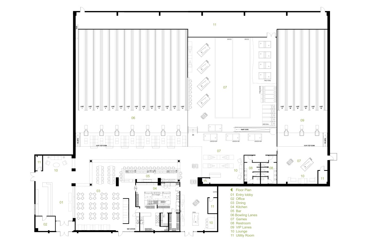 Bowling alley floor plans Bowling alley floor plans